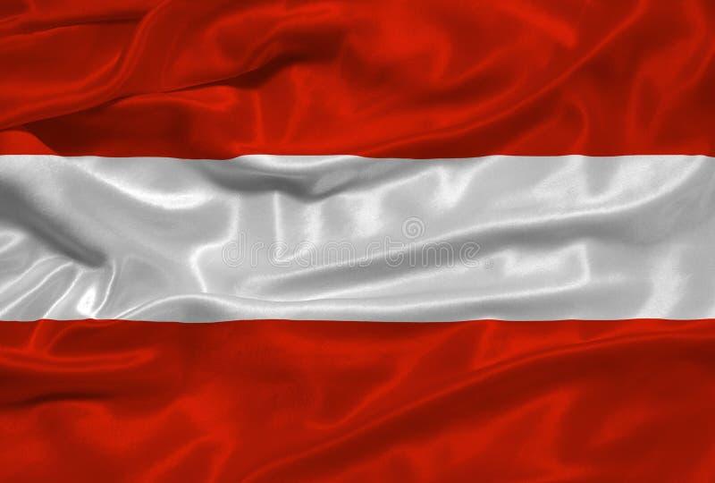 Österreich-Markierungsfahne 3 stock abbildung