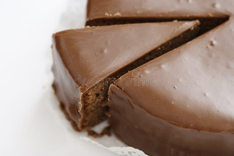 Österreichischer Kuchen Sacher Torte lizenzfreie stockfotografie