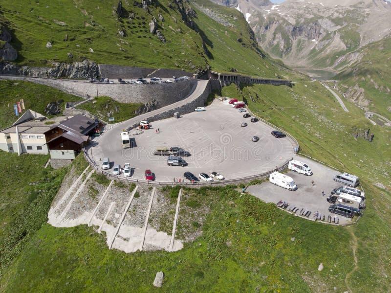 Österreichischer Parkplatz stockbild