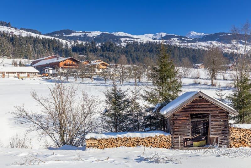 Österreichischer Winter lizenzfreie stockfotos