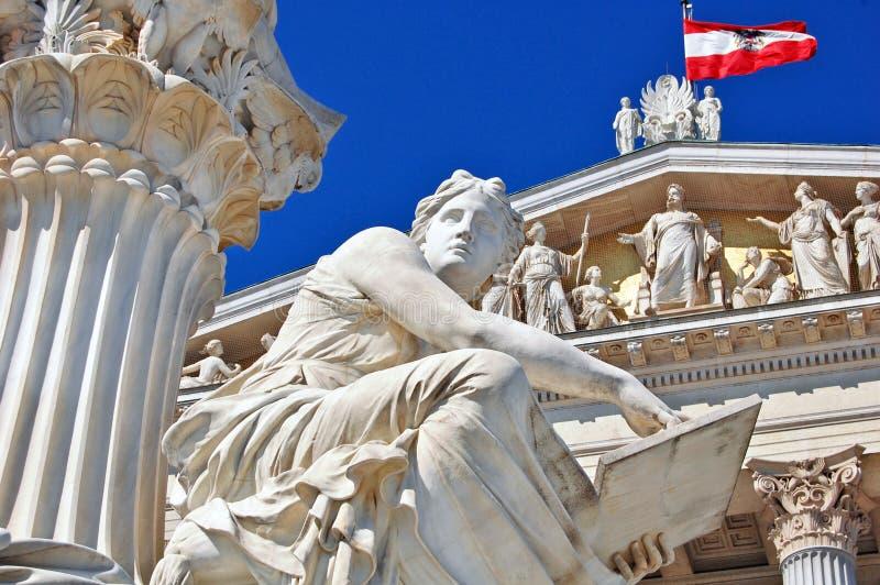 Österreichisches Parlament in Wien lizenzfreies stockfoto