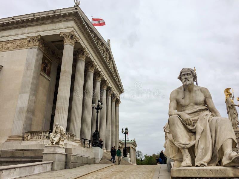 Österreichisches Parlamentsgebäude stockbilder