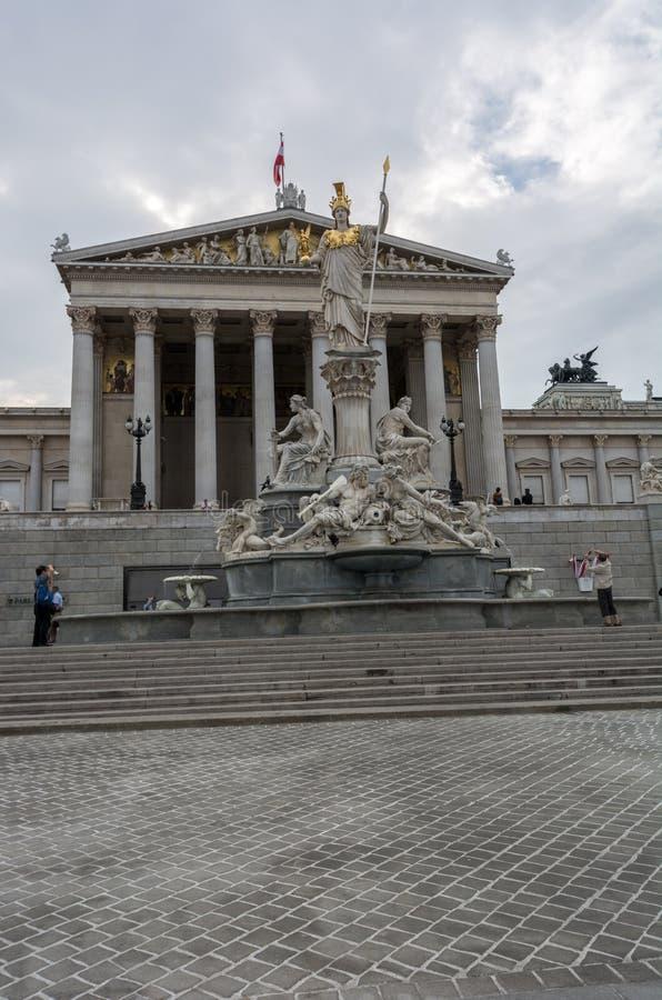 Österreichisches Parlamentsgebäude stockbild