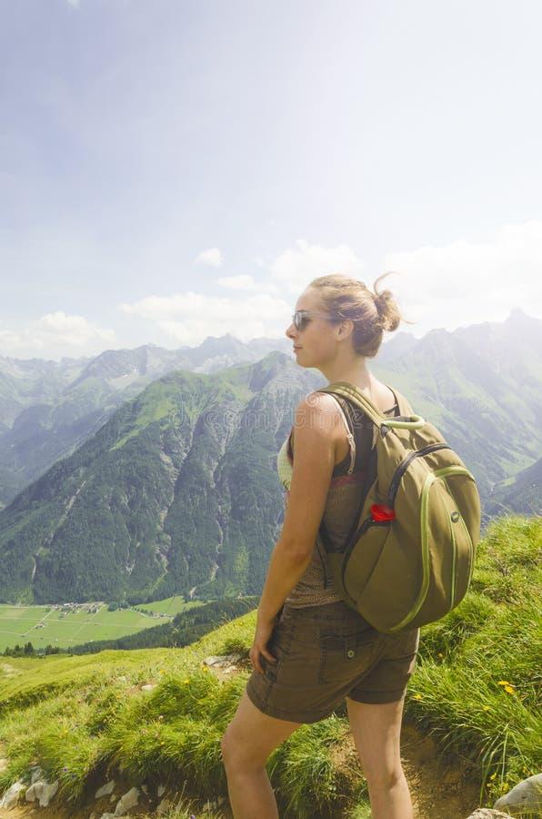Österrike bergsikt arkivfoton