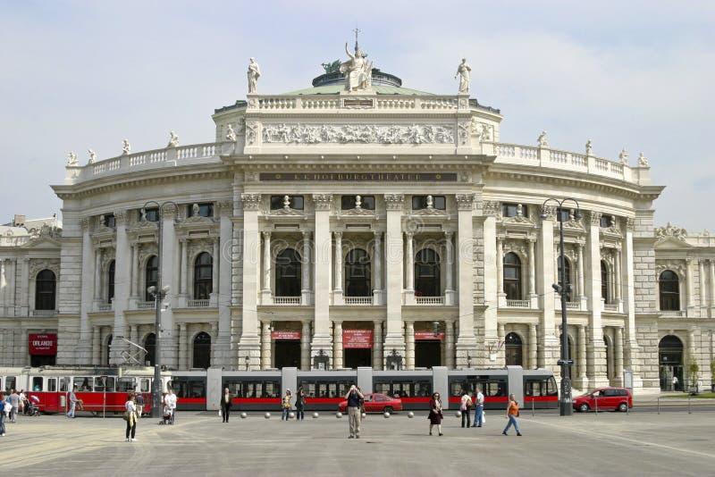 Österrike burgtheater vienna royaltyfri fotografi