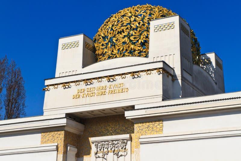 Österrike byggnadssecession vienna royaltyfri fotografi