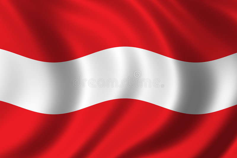 Österrike flagga stock illustrationer