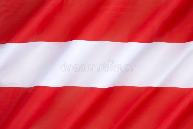 Österrike flagga arkivfoto