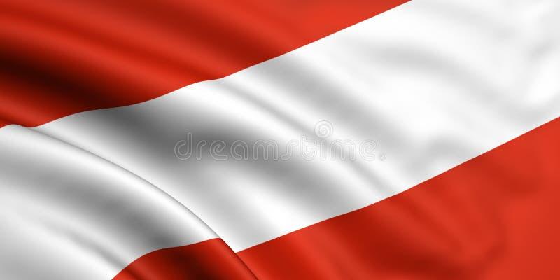 Österrike flagga royaltyfri illustrationer