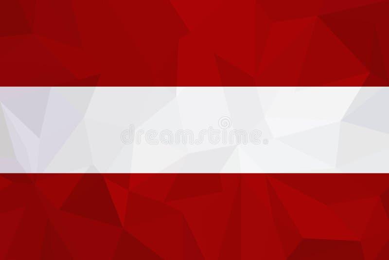 Österrike flagga på texturerad bakgrund också vektor för coreldrawillustration vektor illustrationer