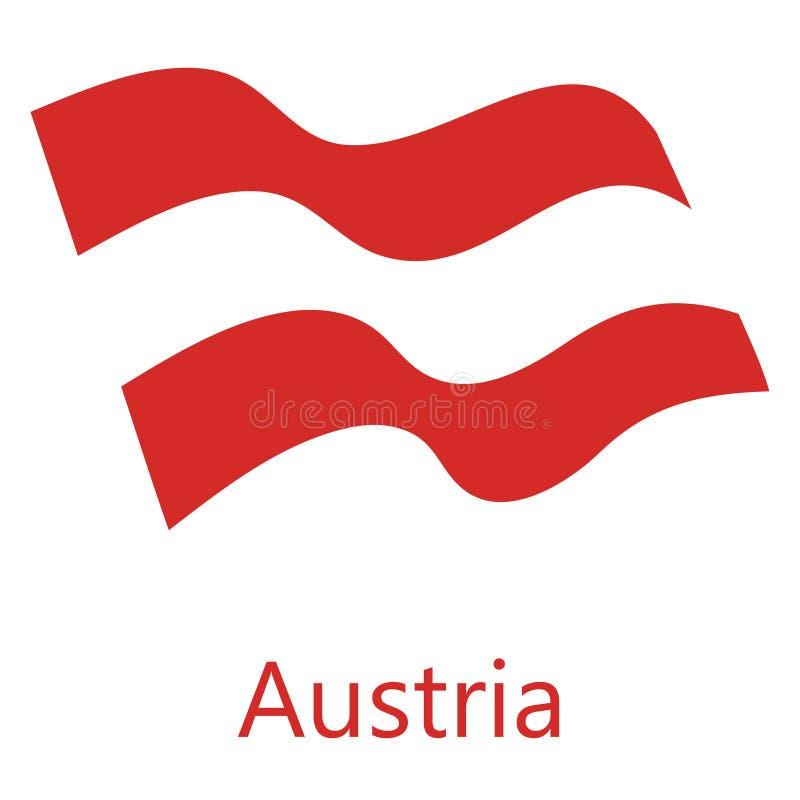 Österrike flaggavektor stock illustrationer