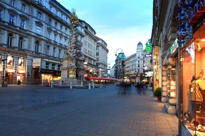 Österrike gata vienna royaltyfria bilder