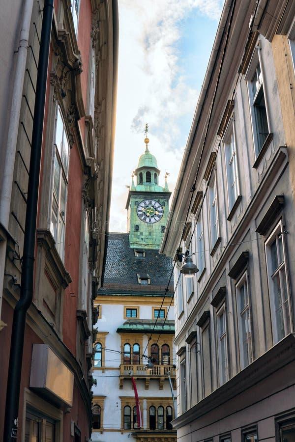 Österrike graz härligt på kapellet i den gamla staden royaltyfria foton