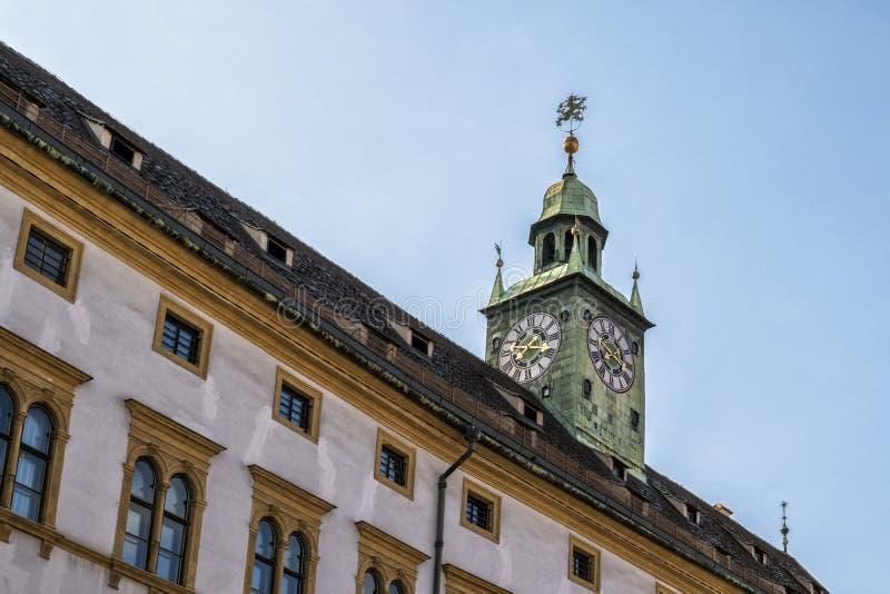 Österrike graz härligt på kapellet i den gamla staden arkivfoton