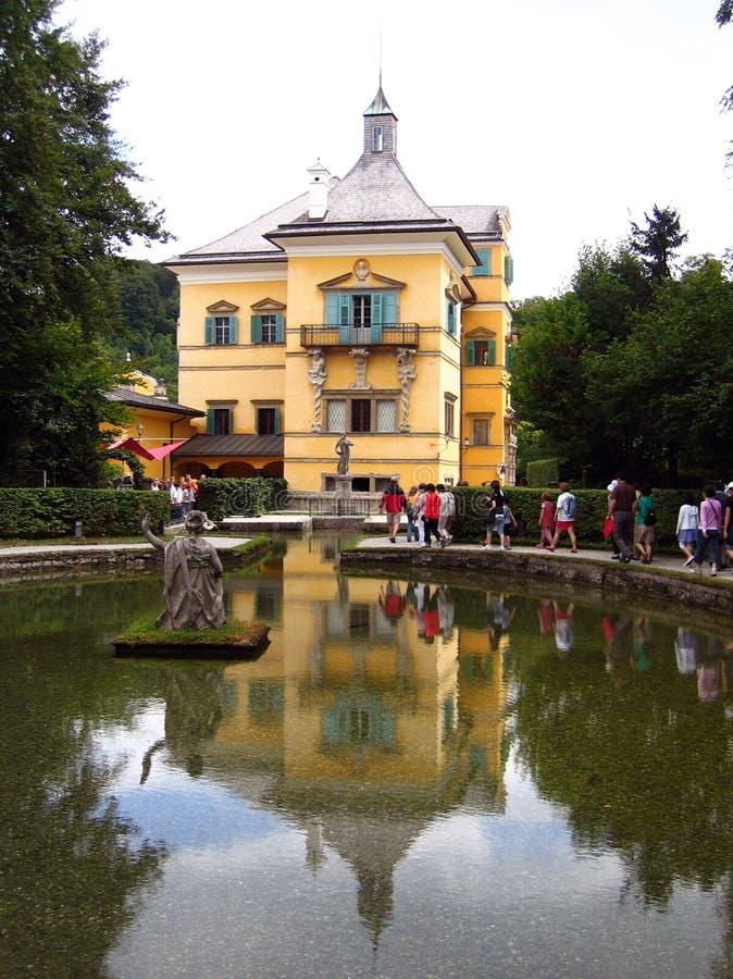 Österrike hellbrunnslott salzburg royaltyfri fotografi