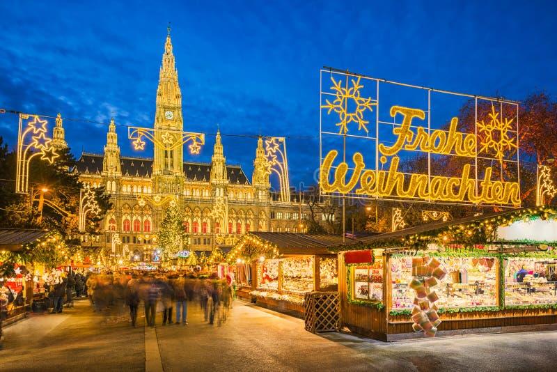 Österrike julmarknad vienna arkivbilder