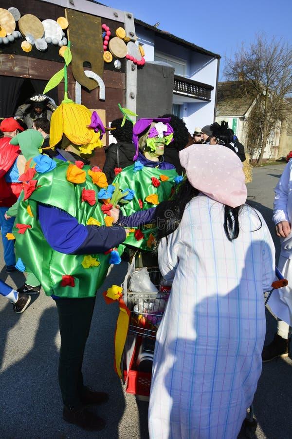 Österrike karneval arkivbild