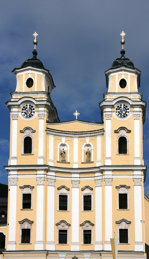 Österrike kyrka royaltyfri fotografi