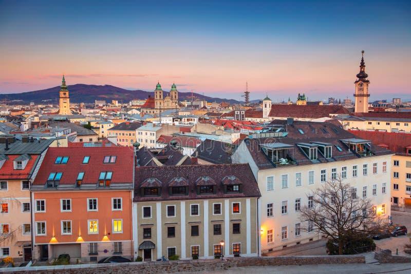 Österrike linz arkivbild