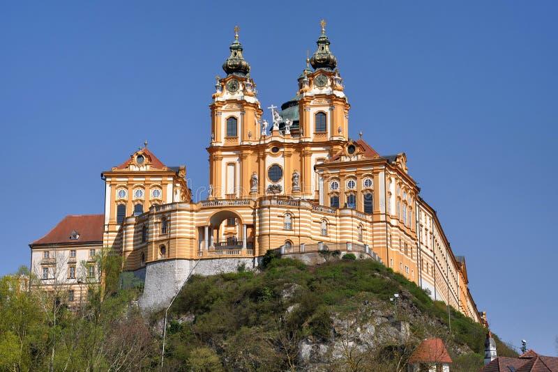 Österrike melkkloster arkivfoton