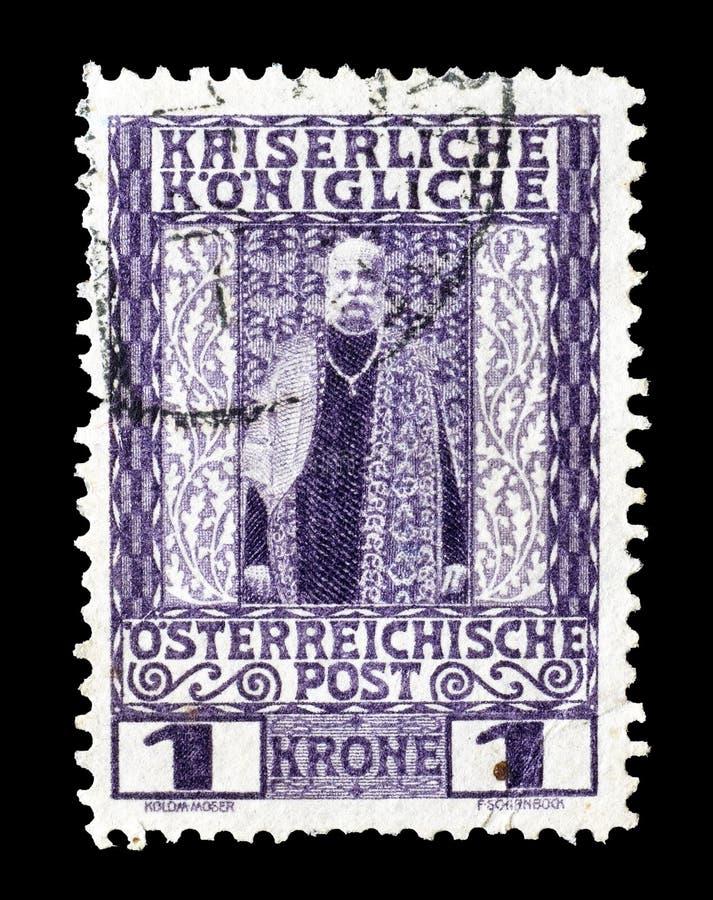 Österrike på portostämplar arkivfoto