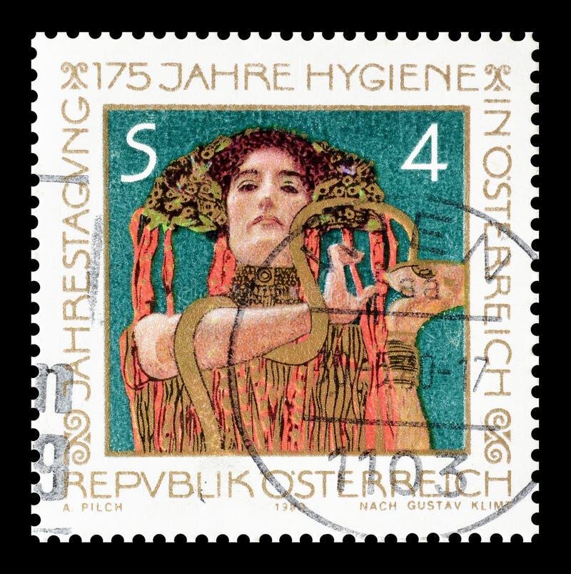Österrike på portostämplar royaltyfria bilder