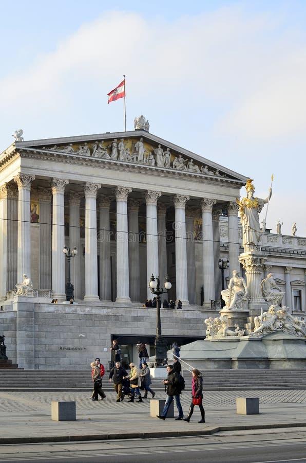 Österrike parlament vienna royaltyfria bilder
