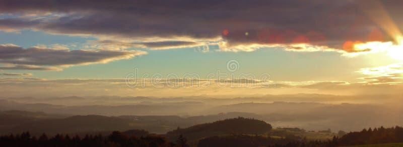 Österrike soluppgångupper royaltyfri fotografi