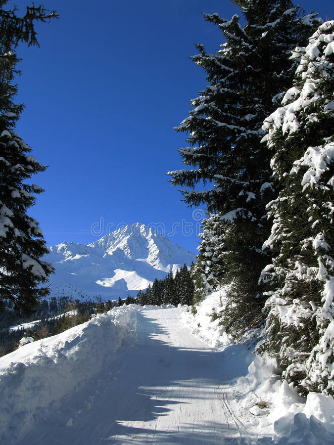 Österrike vinter arkivfoto