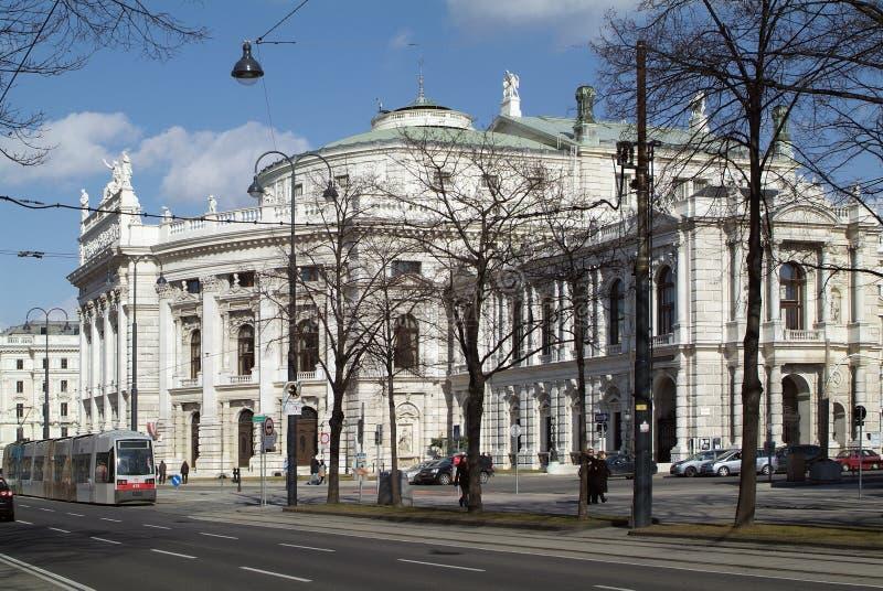 Österrike Wien, Burgtheater arkivbild