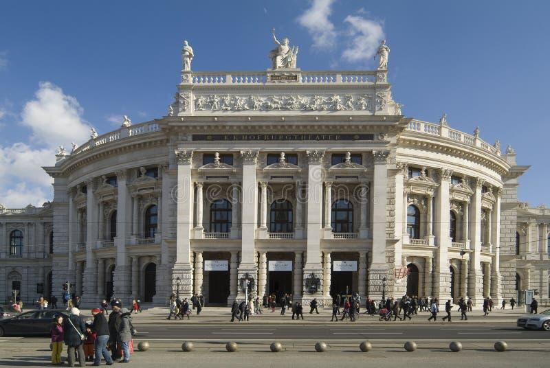 Österrike Wien, Burgtheater royaltyfri foto