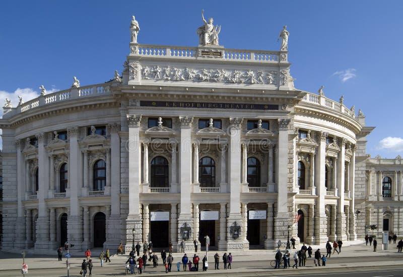 Österrike Wien, Burgtheater arkivbilder