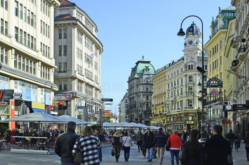Österrike Wien, Graben arkivbild