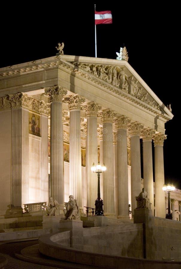 österrikisk byggnadsparlament royaltyfria bilder