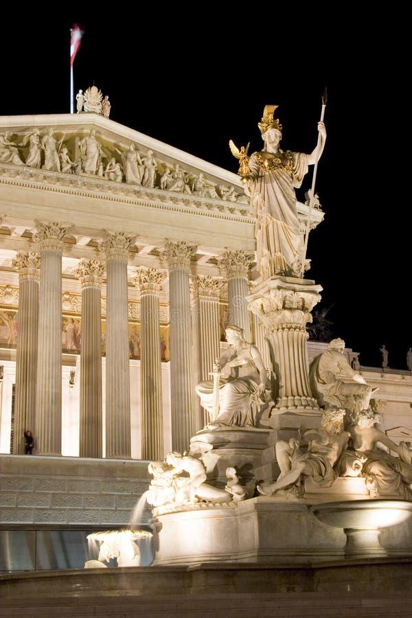 österrikisk byggnadsparlament royaltyfri foto
