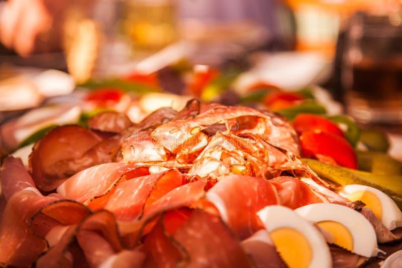 Österrikisk köttmat arkivfoto