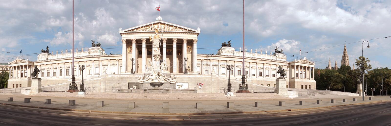 Österrikisk parlament arkivbild