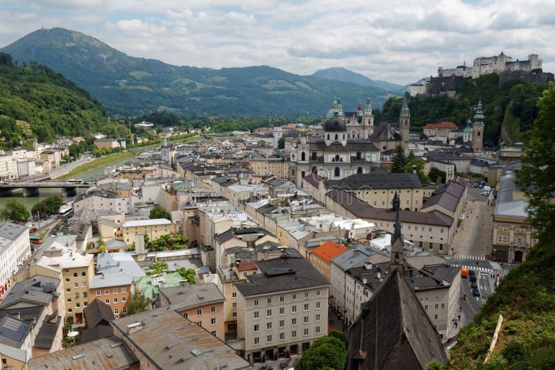 Österrikisk stad av Salzburg 04 royaltyfri fotografi