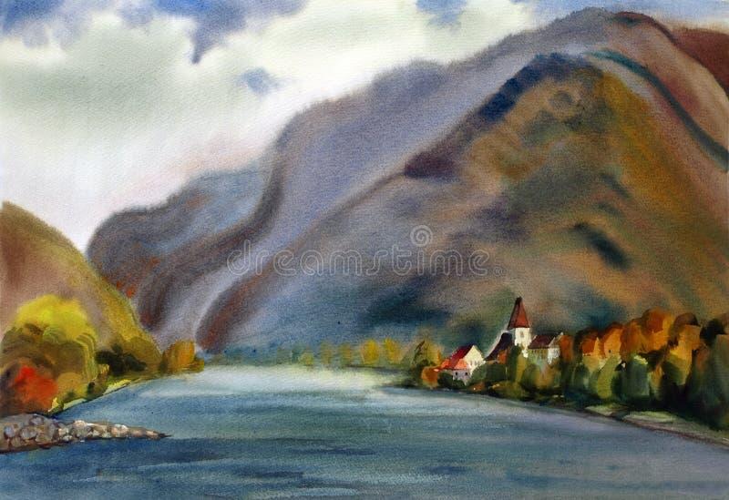 Österrikiskt landskap stock illustrationer
