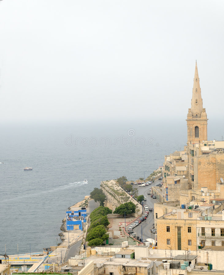 Östlich Valletta stockfotografie