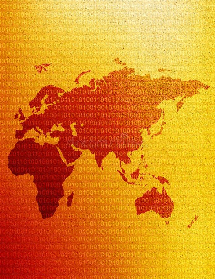 Östliche Hemisphäre-Karte lizenzfreie abbildung