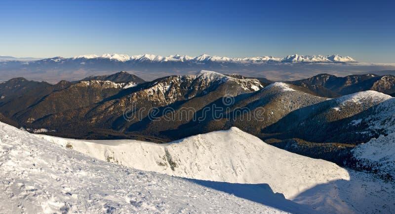 Östlicher Tatras Gebirgszug lizenzfreie stockfotos