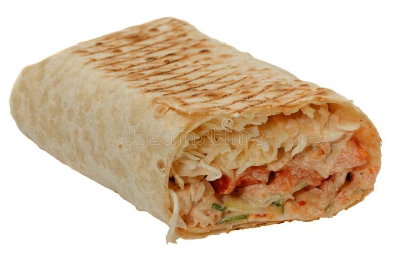 Östliches traditionelles frisches und geschmackvolles shawarma stockfotos