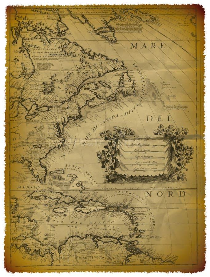 östlig översikt gammala USA för kust stock illustrationer