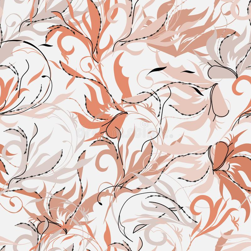 Östlig abstrakt sömlös modell Oändliga texturer av rosa färg Indisk prydnad som dekorerar tyger, tegelplattor och papper vektor illustrationer