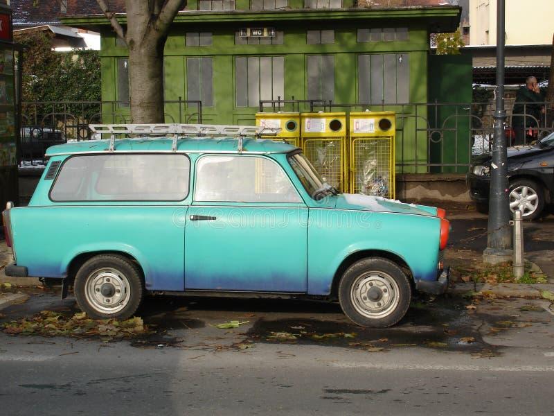 östlig bil - trabant tysk arkivfoto