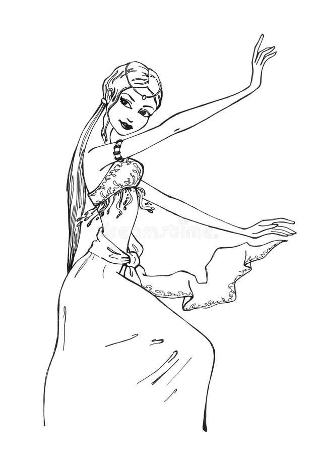 östlig dans stock illustrationer