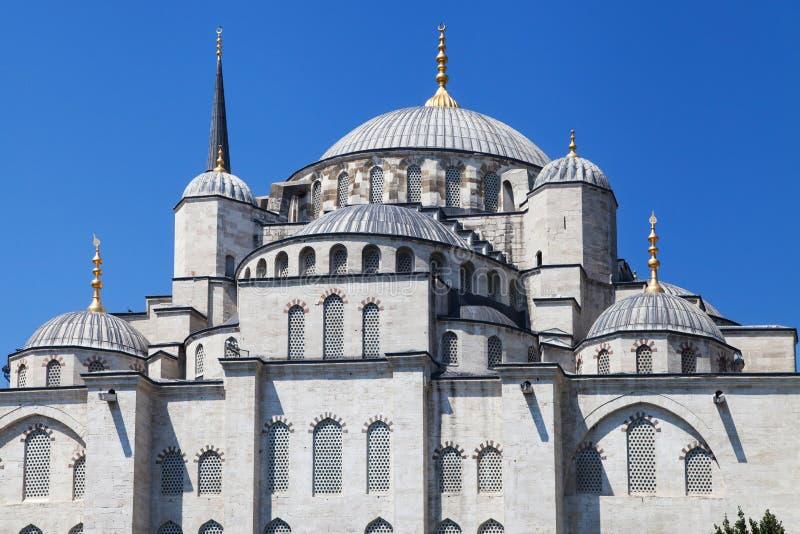 Östlig fasad av den blåa moskén royaltyfri fotografi