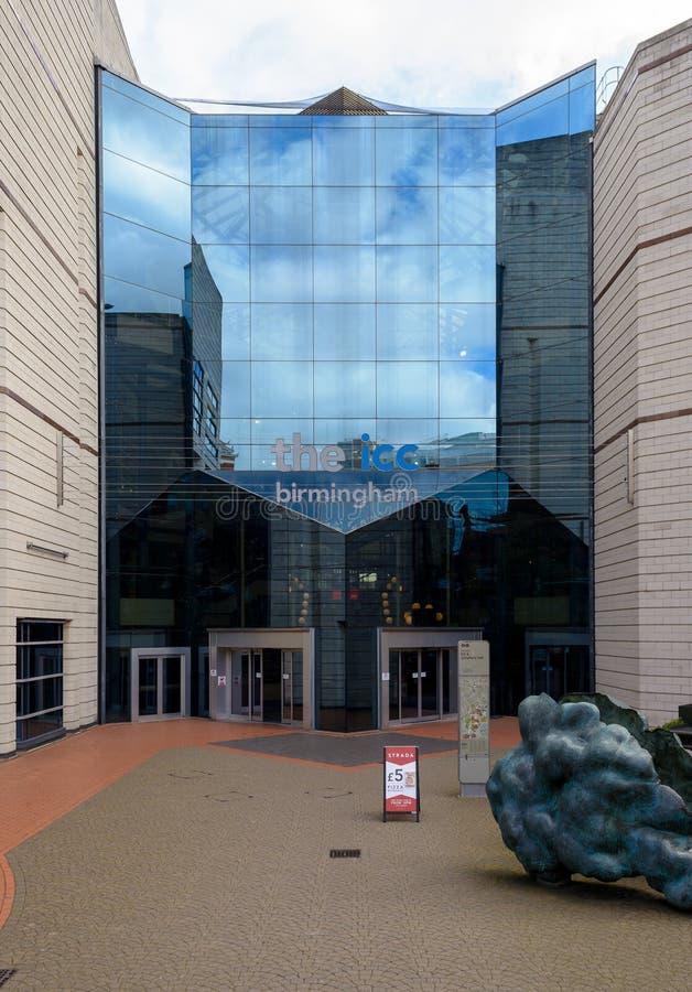 Östlig fasad den internationella regelmitten Birmingham royaltyfria foton