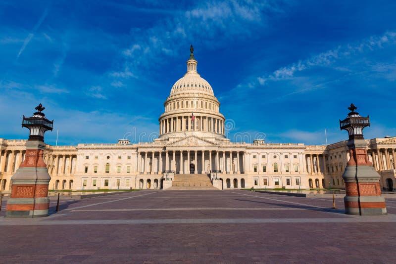 Östlig fasad USA för KapitoliumbyggnadsWashington DC arkivbilder